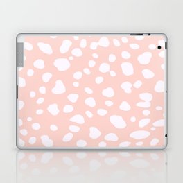 Pink Coral Spotty Dots Laptop & iPad Skin
