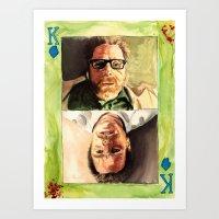 The King of Crystal - Breaking Bad watercolor Art Print