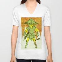 skyrim V-neck T-shirts featuring Dragonborn by Studio Acramill