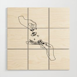 How to roll up your sadness? Wood Wall Art