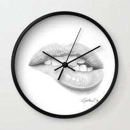 Desiderio / Desire - Lip Bite - Mouth Wall Clock