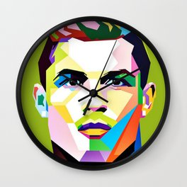 Cristiano Ronaldo Pop Art Wall Clock