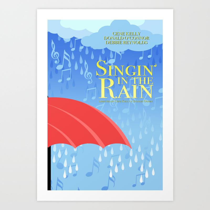 Singin' In The Rain Art Print by Drwdesign PRN8649997