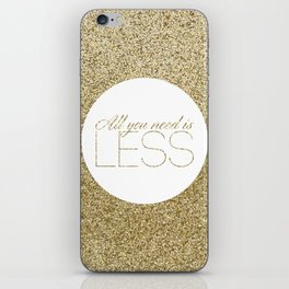 #03 Less is more iPhone Skin
