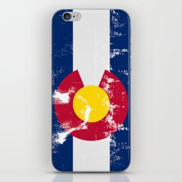 Colorado State Flag Grunge iPhone Skin