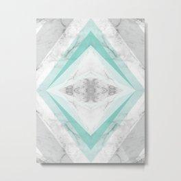 marble rhombus Metal Print