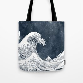 The Great Wave of a Star System Tote Bag