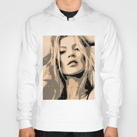 kate moss Hoodies featuring KATE MOSS by Christophe Chiozzi