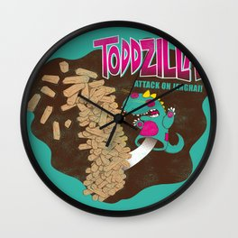 TODDZILLA –ATTACK ON JENGHAI! Wall Clock