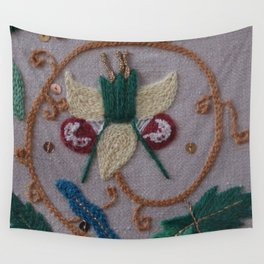 Elizabethan Embroidery Fantasy Flower Wall Tapestry