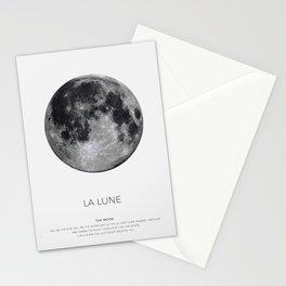 La Lune Print, Moon Poster, La Luna Wall Art, Full Moon Print Stationery Cards