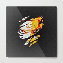 Naruto Face Metal Print