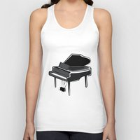 piano Tank Tops featuring Piano by shopaholic chick