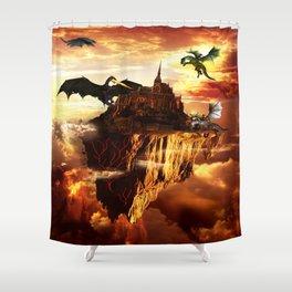 Flying Fantasy Land Shower Curtain