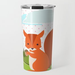 Squirrel and Rainbow , nursery decor Travel Mug