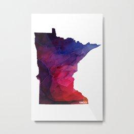 Minnesota State Metal Print