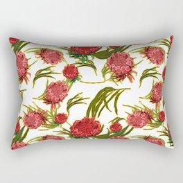 Eucalyptus Leaves and Protea Flowers Rectangular Pillow