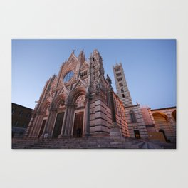 Main cathedral in Siena Canvas Print