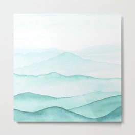 Mint Mountains Metal Print