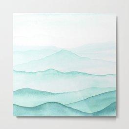 Mint Mountains Metal Print