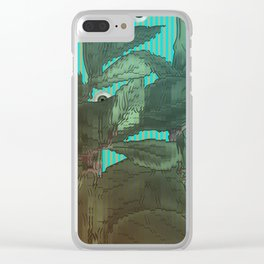 distorted plant sees everything Clear iPhone Case