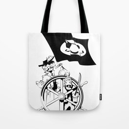 Cap'n at the helm Tote Bag