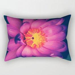 London Purple Lotus Rectangular Pillow