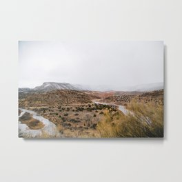 Mist in New Mexico Metal Print