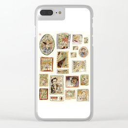 Jurassic Park Portrait Wall Clear iPhone Case