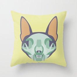 A Bone to Pick - Yellow & Purple Throw Pillow