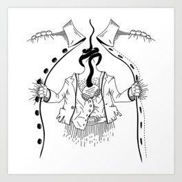Cossack roots Art Print