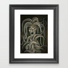 Medieval monster III Framed Art Print