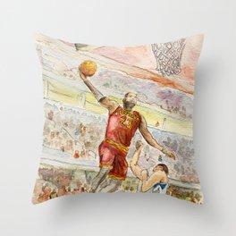 LeBron_Basketball player Throw Pillow
