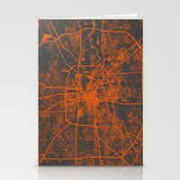 houston Stationery Cards featuring Houston map by Map Map Maps