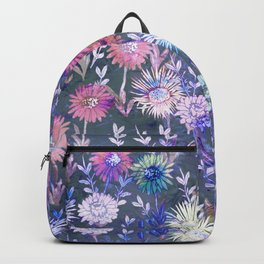 Gillian Floral Gray Backpack