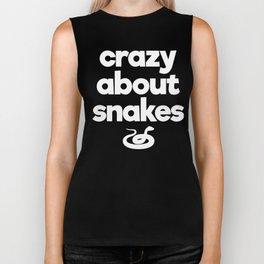 Crazy About Snakes Proud Reptile Parent T-Shirt Biker Tank
