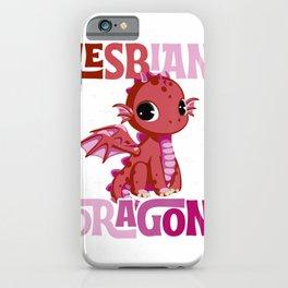 Lesbian Dragon Lesbian Pride Flag Couple Gift T-Shirt iPhone Case