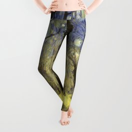 Peaceful Forest Van Gogh Leggings