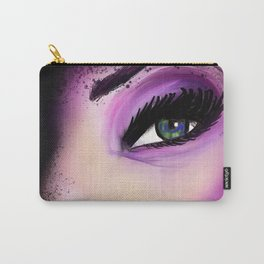 80's AF | Makeup | Lipstick | Glamour | Painting | Digital Painting | 80's | AF | close-up | Carry-All Pouch