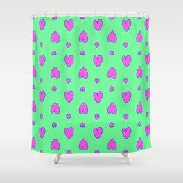 Purple hearts 54 Shower Curtain