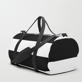Black and White Large Stripes Duffle Bag