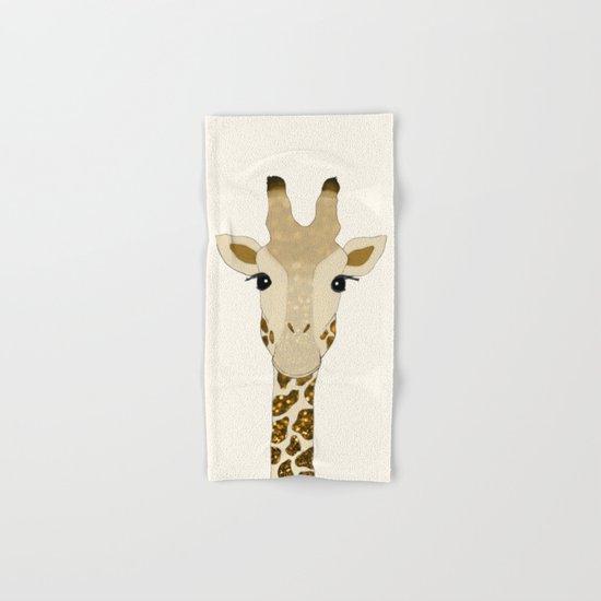 Golden Glitter Giraffe Hand & Bath Towel