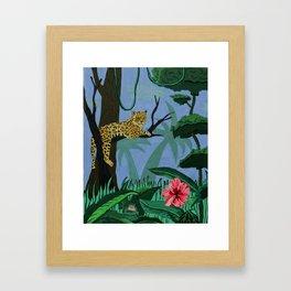 Tiger in Jungle  Framed Art Print