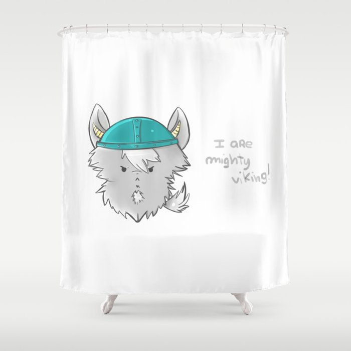 I ARE MIGHTY VIKING Shower Curtain