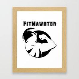 FitMawrter Design in Black Framed Art Print