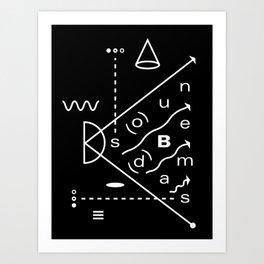 Soundbeams Art Print