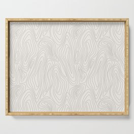 Organic abstract pattern (4) Serving Tray