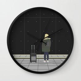 Waiting on a train Wall Clock