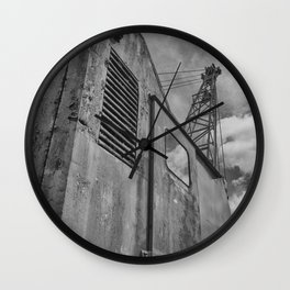 Abandoned crane Wall Clock