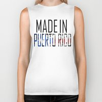 puerto rico Biker Tanks featuring Made In Puerto Rico by VirgoSpice